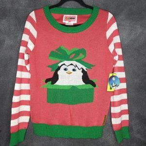 NWT Tipsy Elves Long Sleeve Xmas Penguin Sweater